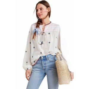 Anthropologie Conditions Apply XS Embroidered Peas